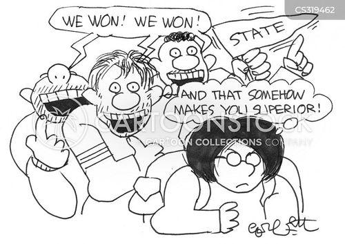 college sports cartoon