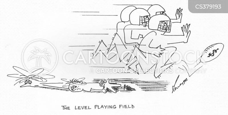 playing fields cartoon