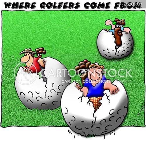 golf enthusiast cartoon