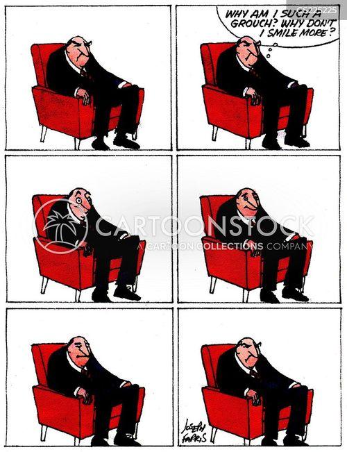 grumpy man cartoon