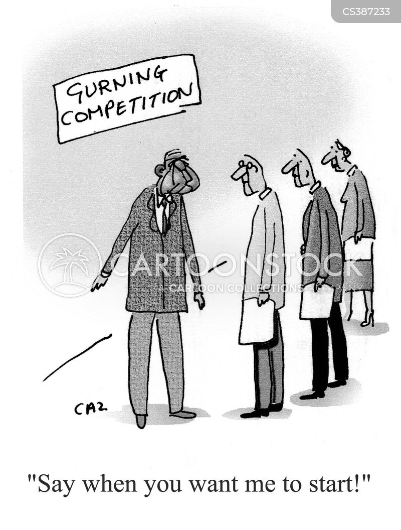 gurning cartoon
