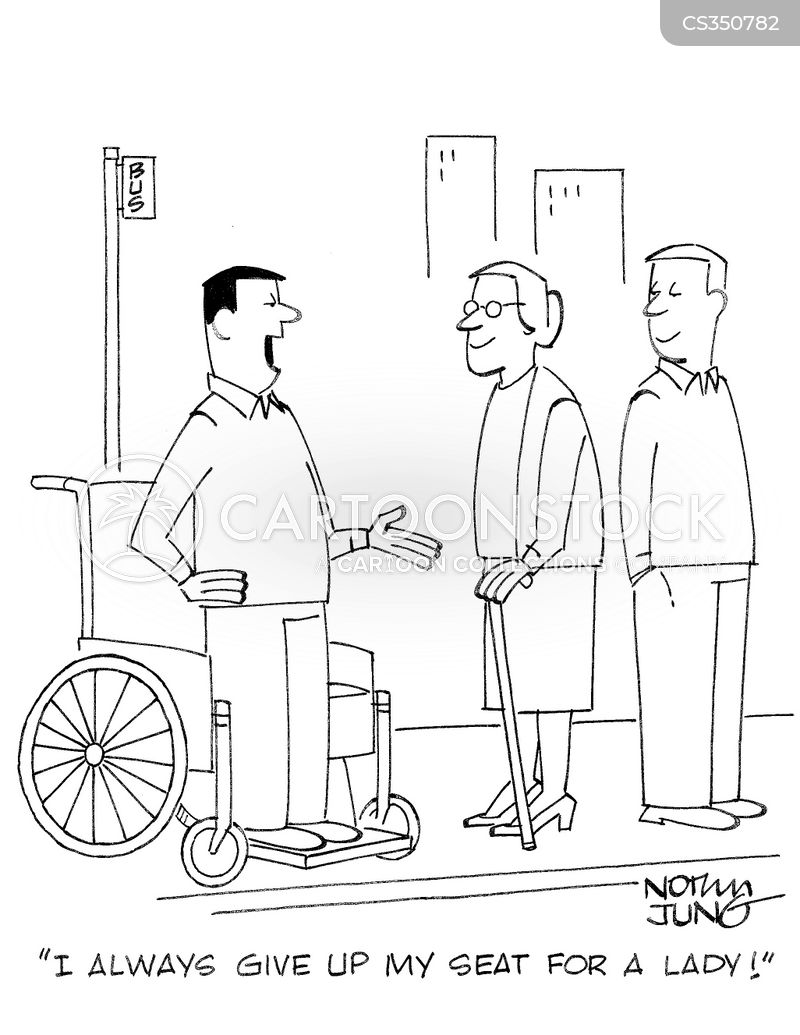 walking problem cartoon
