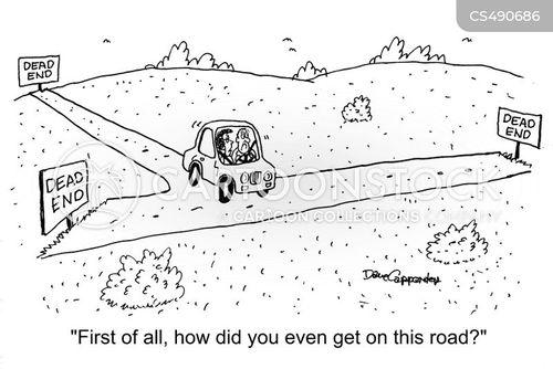 back-seat drivers cartoon