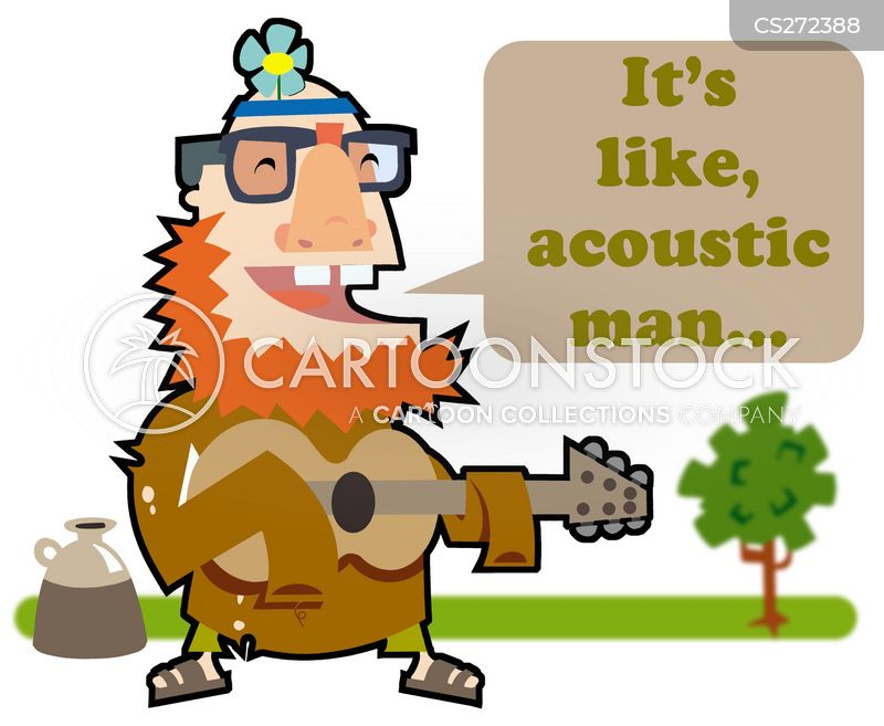 acoustic guitar cartoon