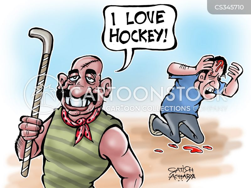 hockey stick cartoon