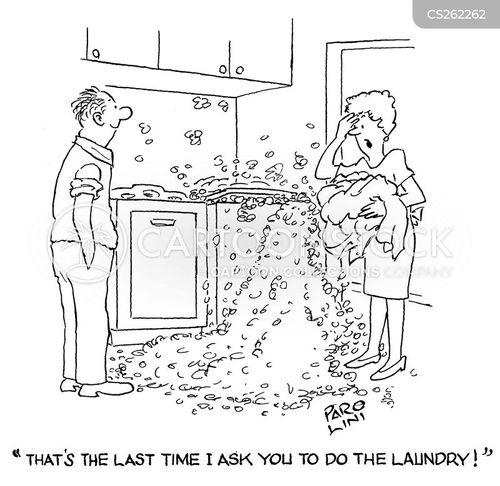 men housework cartoon
