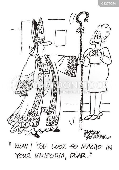 man of the cloth cartoon