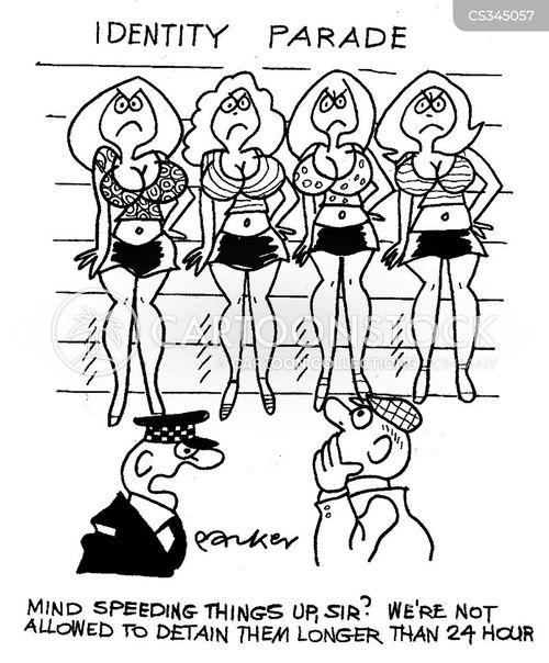 detaining cartoon