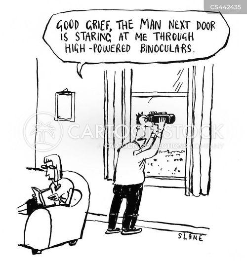 nosy neighbours cartoon