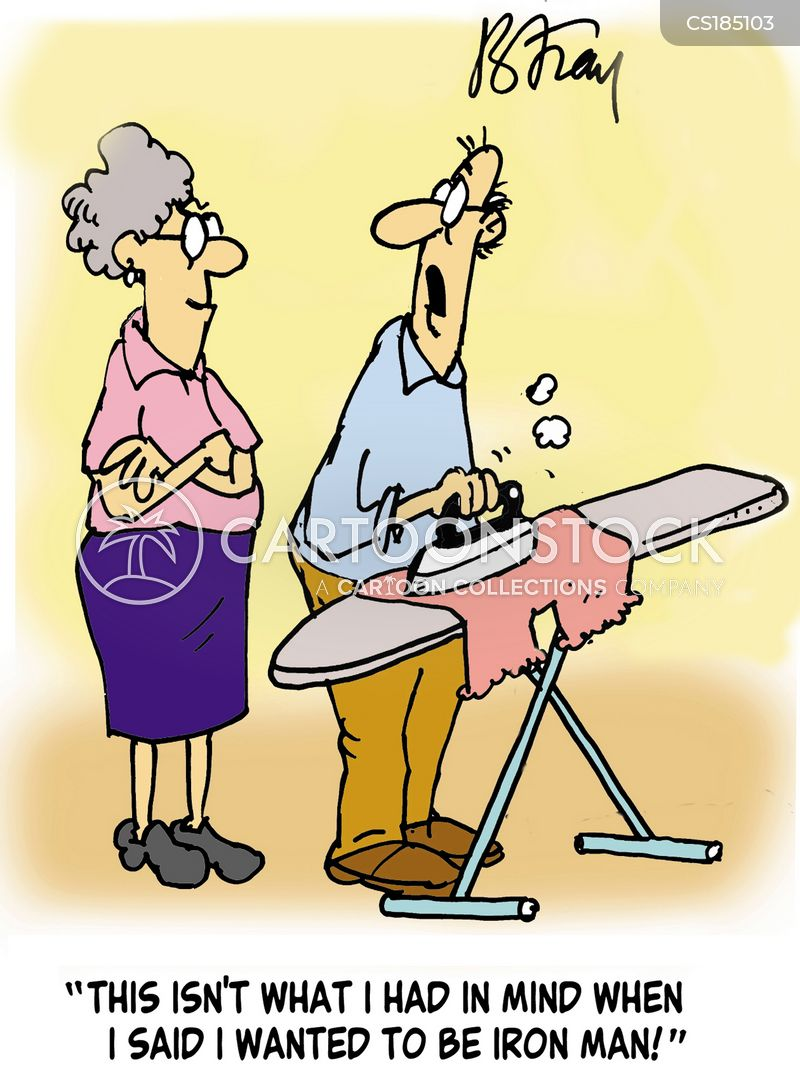 ironing cartoon