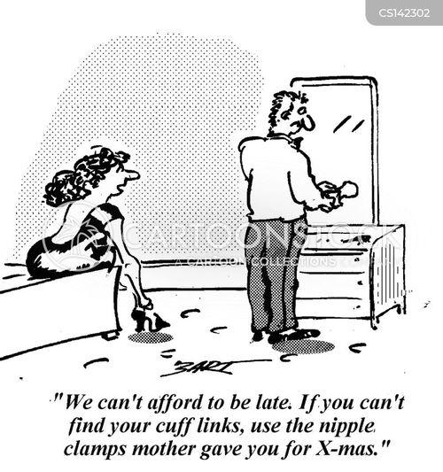 cuff link cartoon