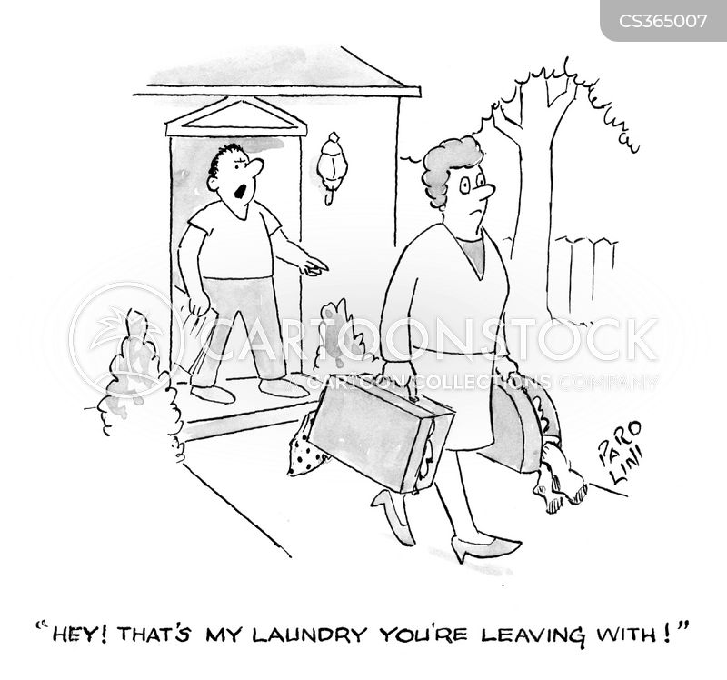 washing basket cartoon
