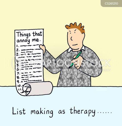 making lists cartoon