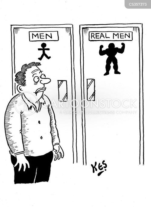 real man cartoon
