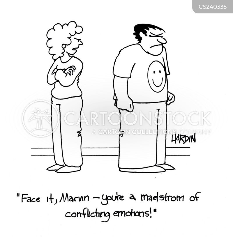 emotional man cartoon