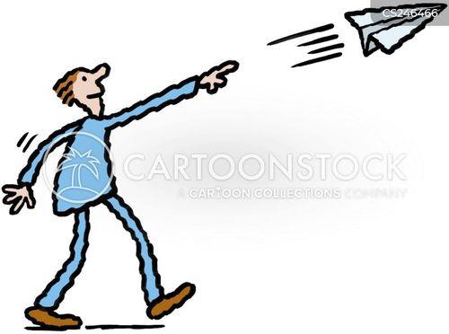 thrown cartoon