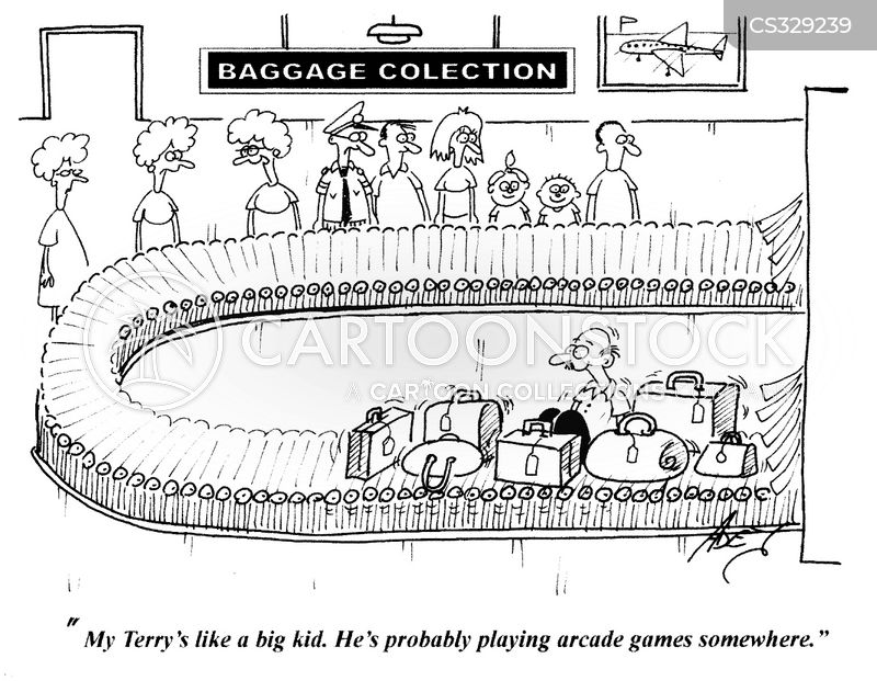 luggage collection cartoon