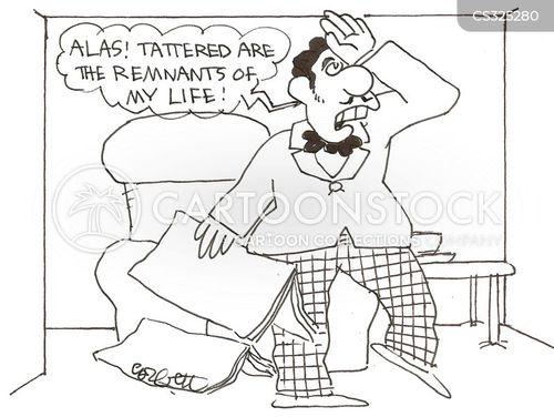 over-dramatic cartoon