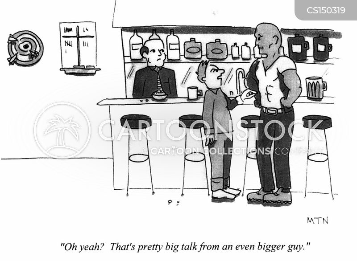 bar room brawl cartoon