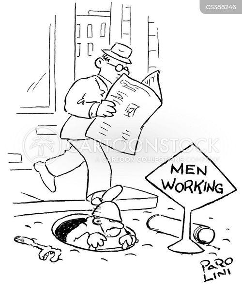 working men cartoon