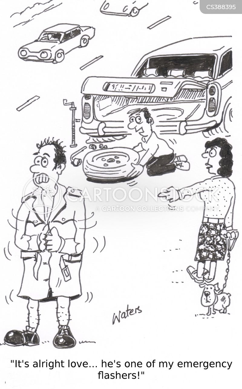 breakdown service cartoon