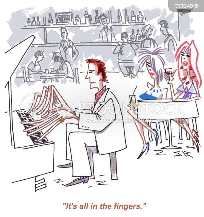 big hands cartoon