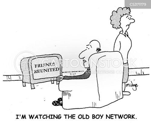 old boy network cartoon