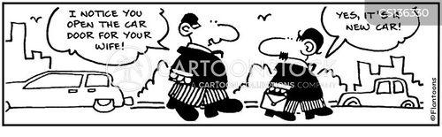 car door cartoon