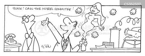 nobel prize committee cartoon