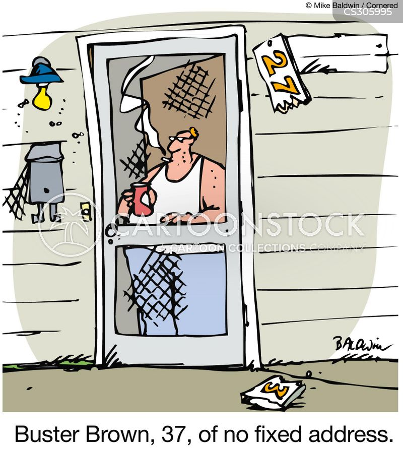 broken door numbers cartoon