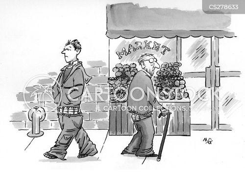 low trousers cartoon