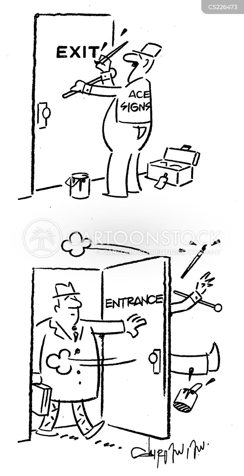 knock over cartoon