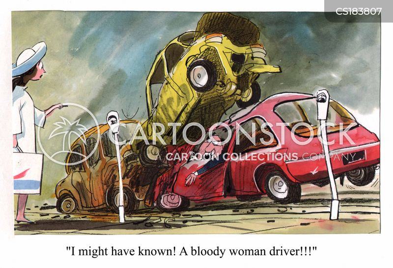 male drivers cartoon