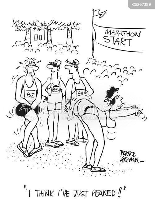 long distance runners cartoon