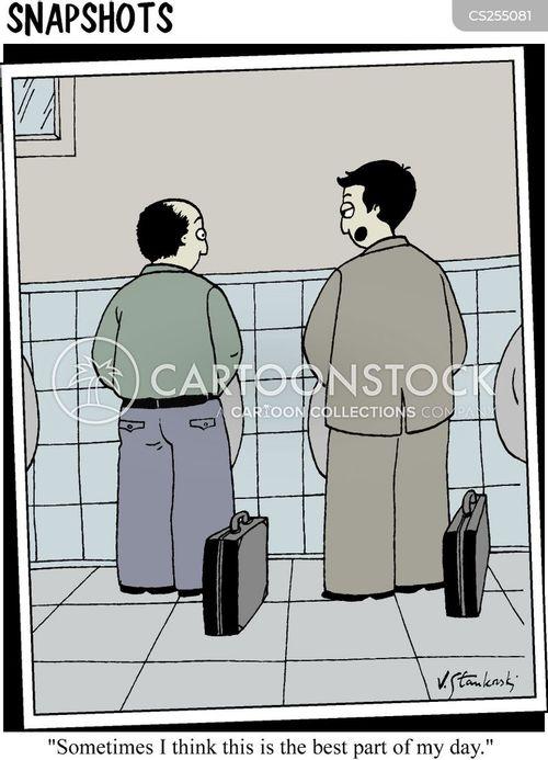 urinates cartoon