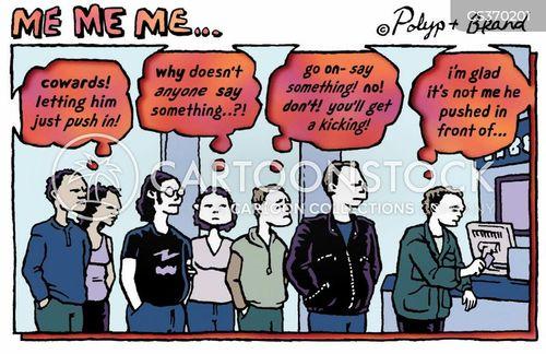 queue jumpers cartoon