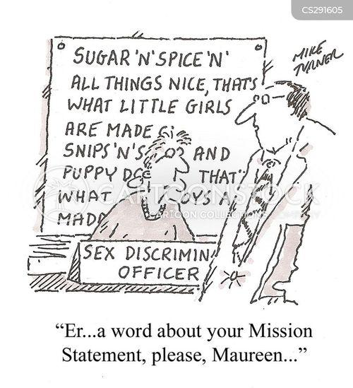 sexual discrimination cartoon
