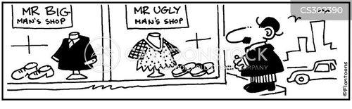 ugly man cartoon