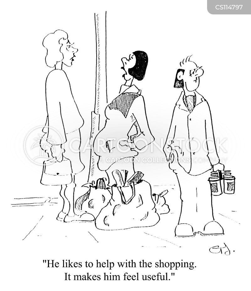 shopping therapy cartoon