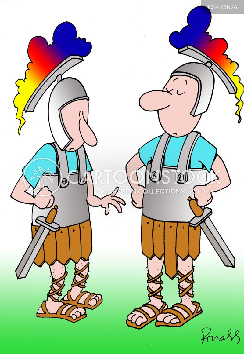 roman soldier cartoon