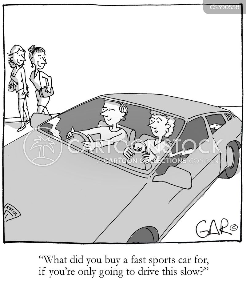 driving fast cartoon