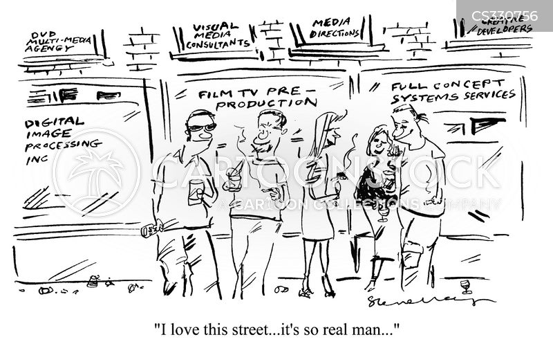 real man cartoon