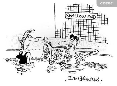 deep end cartoon