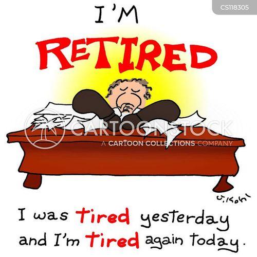 knackered cartoon