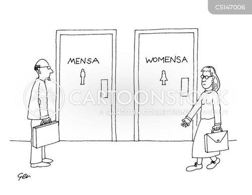high iq cartoon