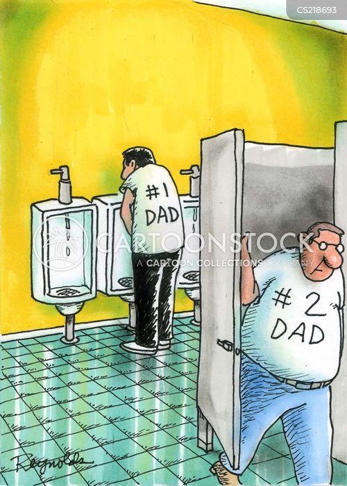 rest room cartoon