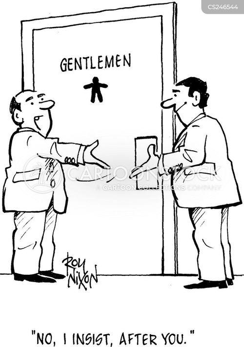 being polite cartoon