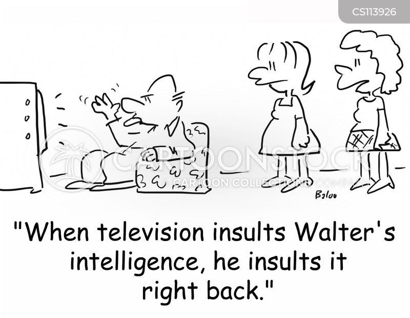insulting intelligence cartoon
