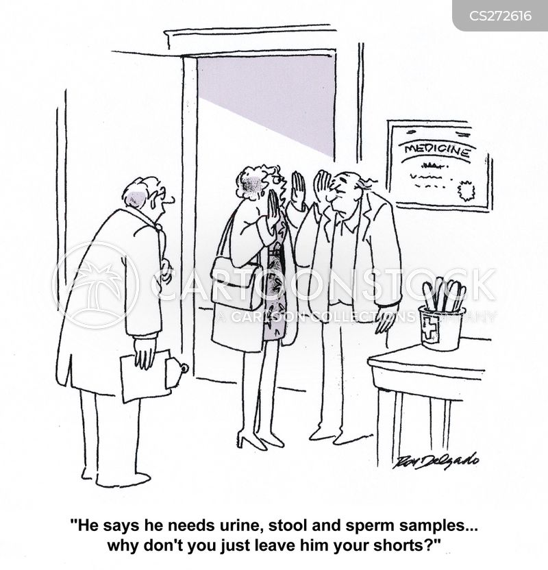 urine samples cartoon