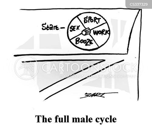 male mind cartoon